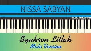 Nissa Sabyan - Syukron Lillah MALE (Karaoke Acoustic) by regis
