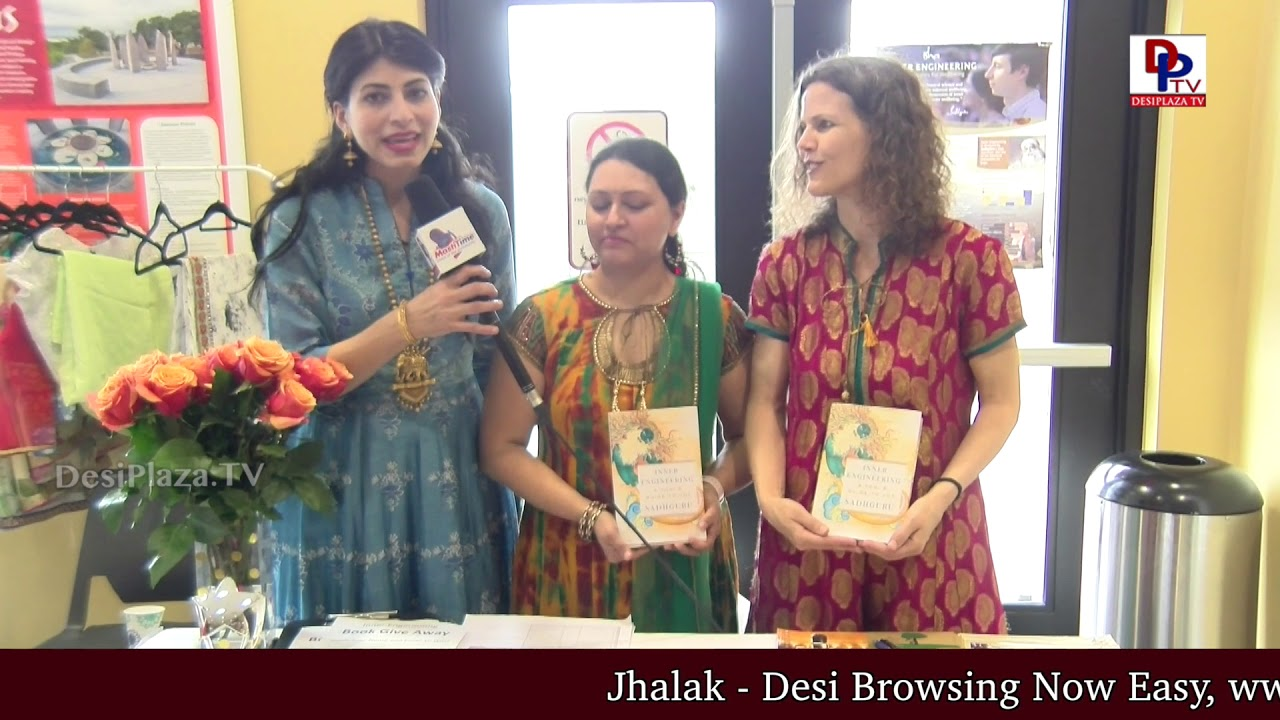 Isha Foundation volunteers speaking to DPTV at  International Womens Day - NATA Austin