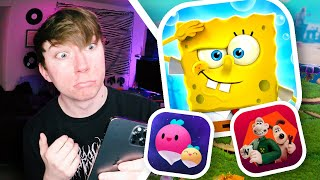 SPONGEBOB SQUAREPANTS: BATTLE FOR BIKINI BOTTOM - REHYDRATED! (5 New Mobile Games)