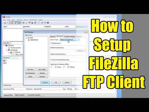 How to Set Up FileZilla Using Site Manager