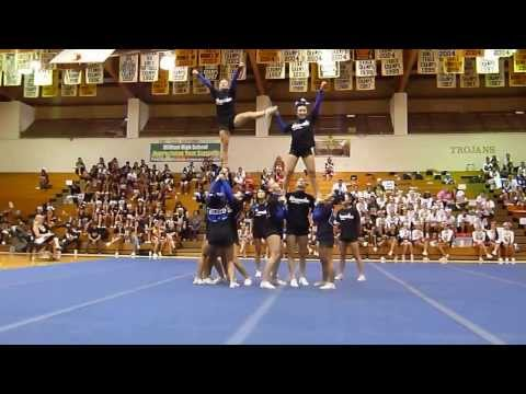 Moanalua High School Varsity Cheerleaders Pre Season Competition 10/12/13