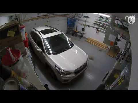 Garage Nest cam captures SUV rocking in Alaska's 7.0 earthquake