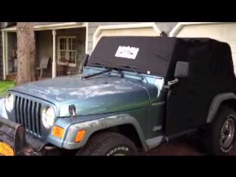 New Rain Gear Jeep Wranger All Weather Cab Cover - YouTube