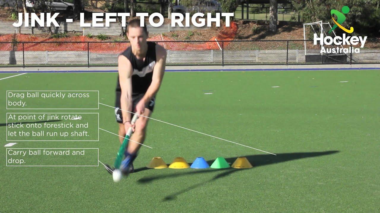 Hockey Australia Skill Video - Jink Left to Right