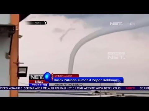 Angin Puting Beliung di Cirebon Merusak Ratusan Rumah Warga - NET5