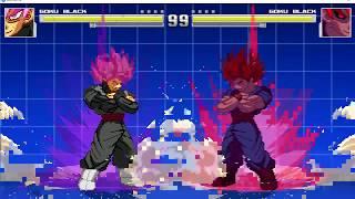 HDBZ: Goku Black Tatsu test + Bardock finalised Pallete Template