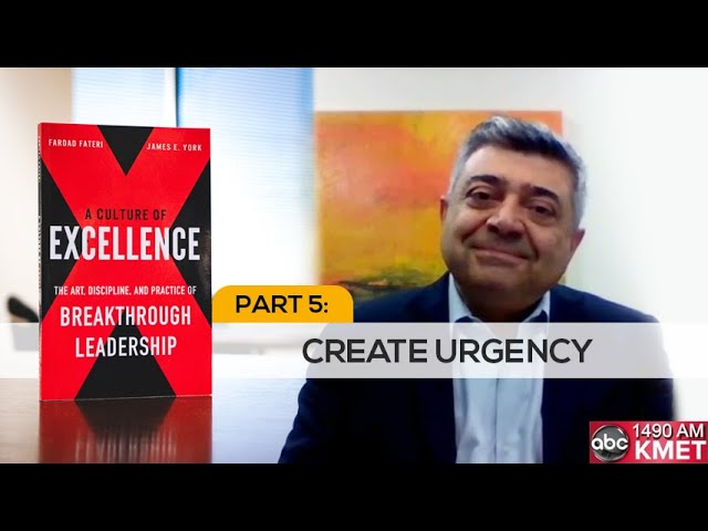 Interview with Dr. Fateri - Part 5: Create Urgency