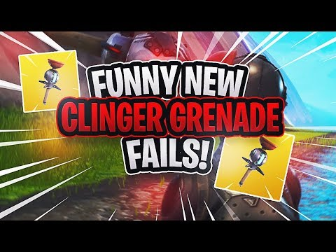 NEW FORTNITE CLINGER IS THE BEST GRENADE! (Hilarious NEW Fortnite Item!)