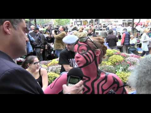 Body Paint Artist & Model at Occupy Wall Street