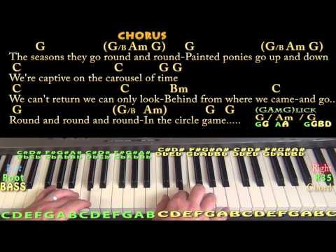 Circle Game (Joni Mitchell) Piano Cover Lesson in G with Chords/Lyrics