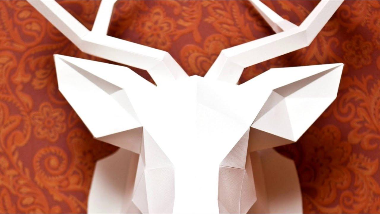 Origami Deer Head Tutorial Tutorial Origami Handmade