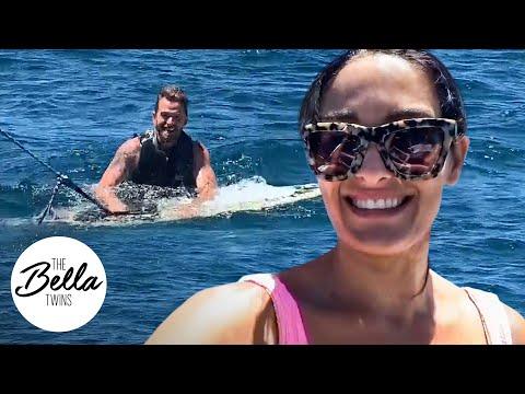 Nikki And Brie Take Artem WAKEBOARDING At Lake Tahoe!