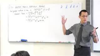 Greatest Binomial Coefficient - worked example (1 of 2)