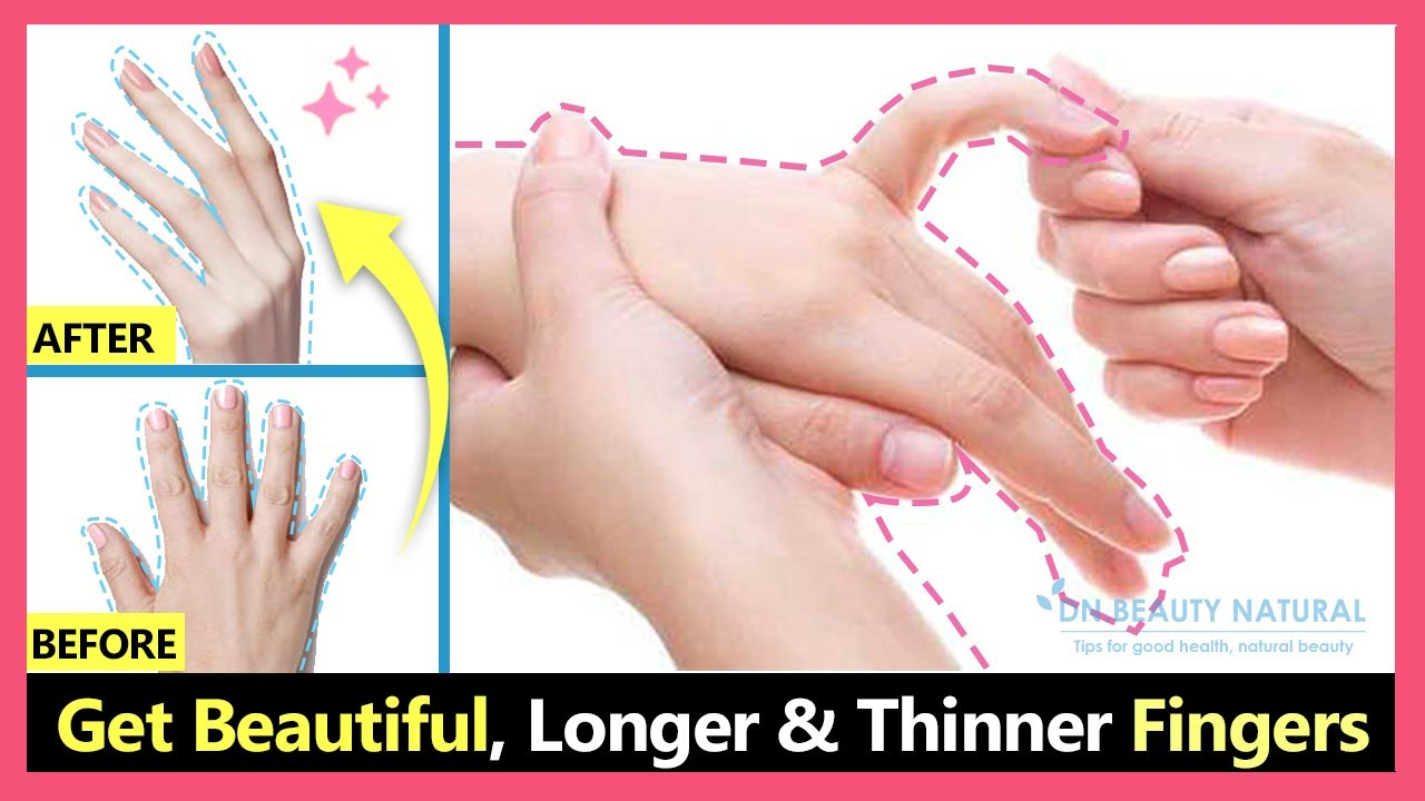 Just 10 mins! Get Beautiful fingers & Hands. How to lose fat fingers make  fingers longer & thinner.