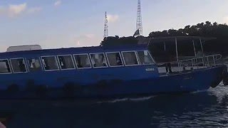 Ferry boats entering the waters of Villimale' Ferry Terminal...Second Video
