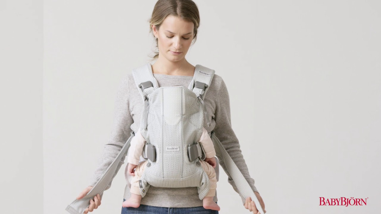 bb1d4f06d BABYBJÖRN - How to use the facing-in position for newborn on Baby Carrier  One