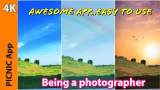 STUNNING Best Free Android App | PICNIC APP | Photo filter for dark sky | Travel app screenshot 2