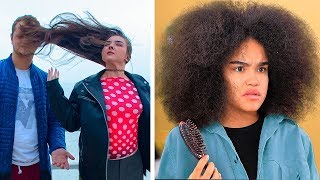 Long Hair vs Curly Hair Struggles and Problems