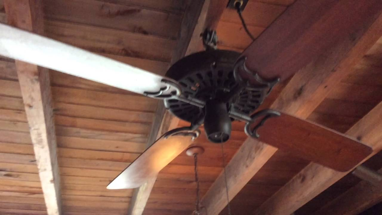 52 Emerson Longnose Hunter Reverse Aire Originial Harbor Breeze Ceiling Fans In A Restaurant