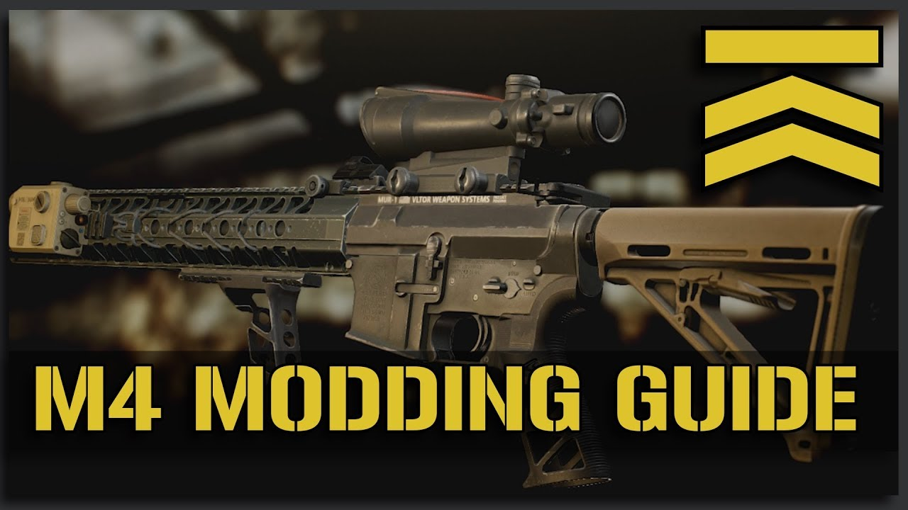 How I Build My M4s Escape From Tarkov Play Weapon Modding Guide