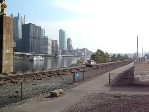 CSX Track Car Heading East - Pittsburgh, Pennsylvania
