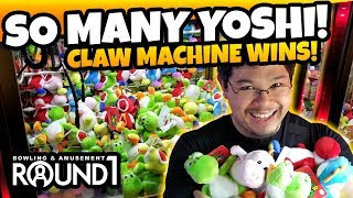 Video So many Yoshi! Playing at the Round 1 Arcade Claw Machine Tips! TeamCC download MP3, 3GP, MP4, WEBM, AVI, FLV Agustus 2018