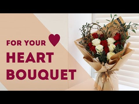 Diy Eng Sub How To Wrap A Bouquet With Kraft Wrapping Paper Youtube
