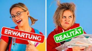 ZURÜCK ZUR SCHULE: ERWARTUNG VS. REALITÄT || Lustige Situationen mit 123 GO!