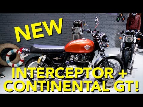 2018 Royal Enfield Interceptor and Continental GT 650 First Look