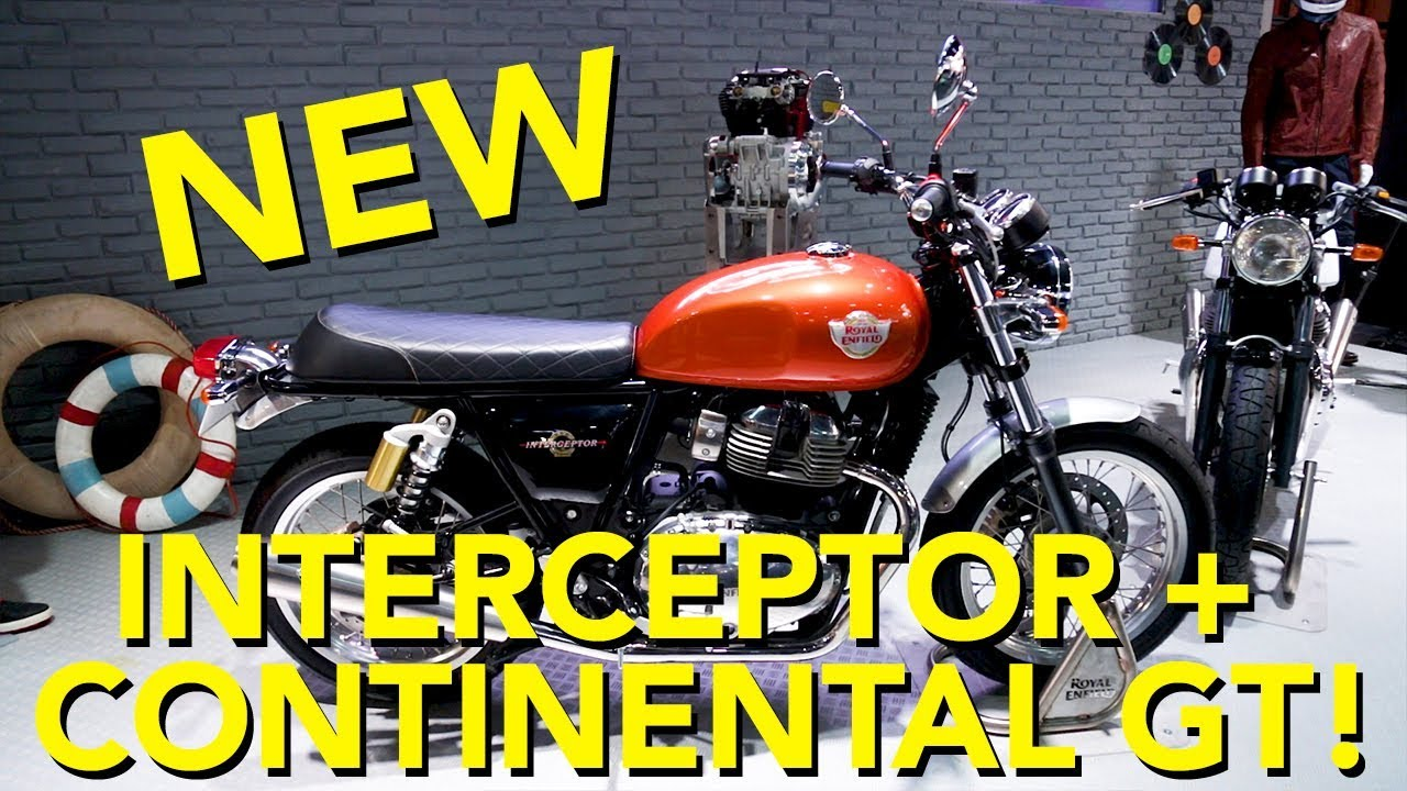 2018 Royal Enfield Interceptor and Continental GT 650 First Look - Dauer: 4 Minuten, 28 Sekunden