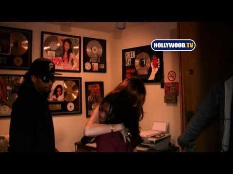 Miley Cyrus And  Lil' Jon Hit Music Studio In Santa Monica