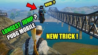 PUBG MOBILE LONGEST JUMP NEW TRICK ? How to longest jump and Across The River With A Bike ?