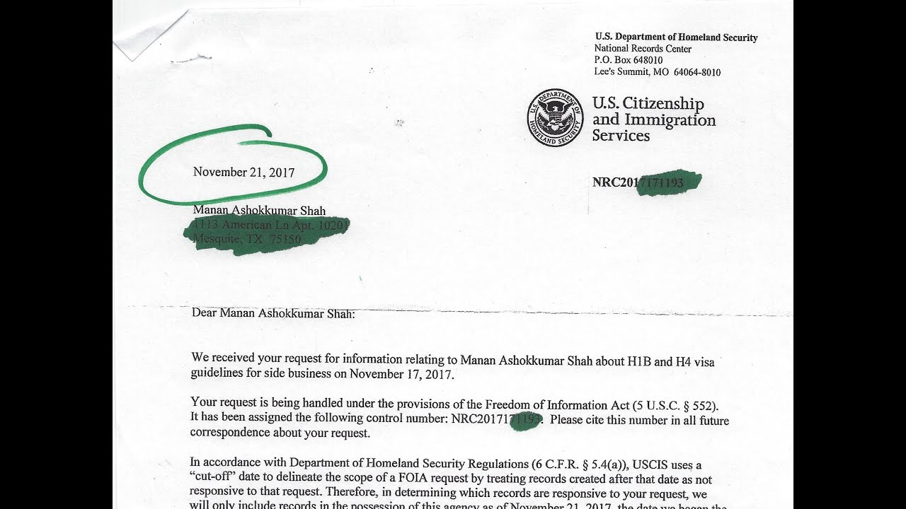 USCIS and Department of Labor on H1b/H4