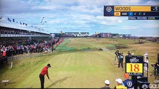Golf Fan YELLS During Tiger Woods Swing on 18th Hole (Open Championship 2018)