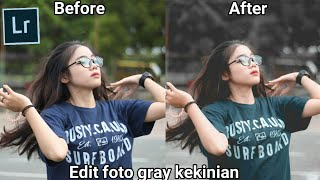 Edit foto gray kekinian #5 menggunakan Adobe Lightroom di Android/HP.