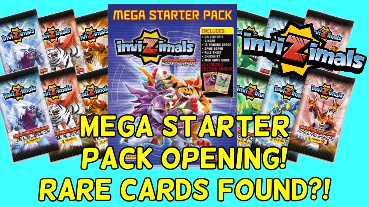 18 TRADING CARDS MORE GAME BOARD INVIZIMALS MEGA STARTER PACK = BINDER