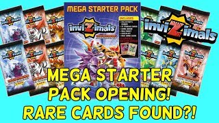 INVIZIMALS MEGA STARTER PACK OPENING! Hidden Challenges Trading Card Game by Panini! Rare Cards?!