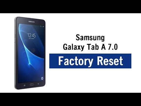 galaxy tab a 7 0 how to reset back to factory settings youtube rh youtube com