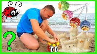 Cautam Chupa Chups in Pascute din Nisip Joc Distractiv pentru cei Mici