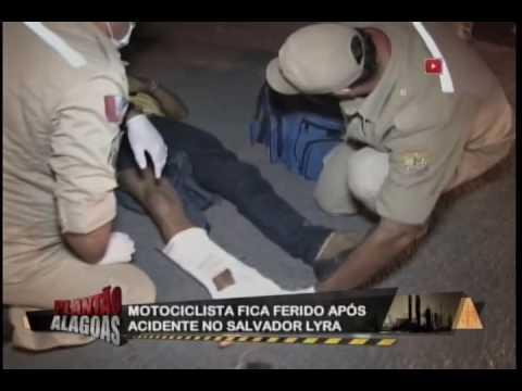 MOTOQUEIRO ACIDENTADO RECEBE ATENDIMENTO DO CORPO DE BOMBEIROS