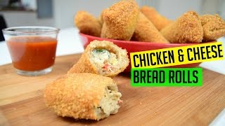 Bread Rolls with Chicken and Cheese | Indian Cooking Recipes |  ramadan recipe | Cook with Anisa