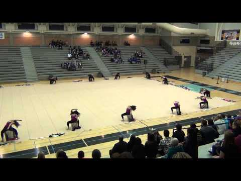 Tulare Western High School Winterguard - SJCGPR Competition - 03-22-13