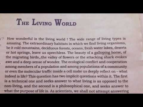 Chapter 1 The living world class 11th (NCERT READING) thumbnail