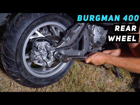 07+ Suzuki Burgman 400 - Rear Wheel Installation