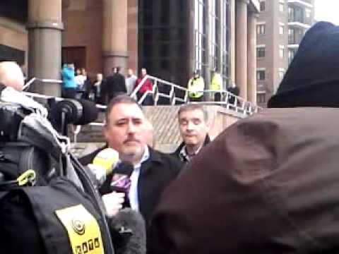 P.C. David Rathband outside Newcastle Law Courts