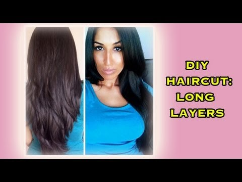 Diy Haircut Long Layer For All Hair Types Youtube