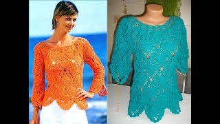 how to crochet pullover summer sweater free pattern