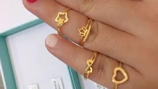 【女孩的小尾戒 #黃金戒指】