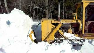 Pushing snow with Allis Chalmers HD9 part 3