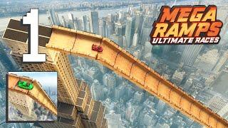 Mega Ramps - Ultimate Races - Level 1-6 Gameplay Walkthrough [Android, iOS Game] screenshot 2